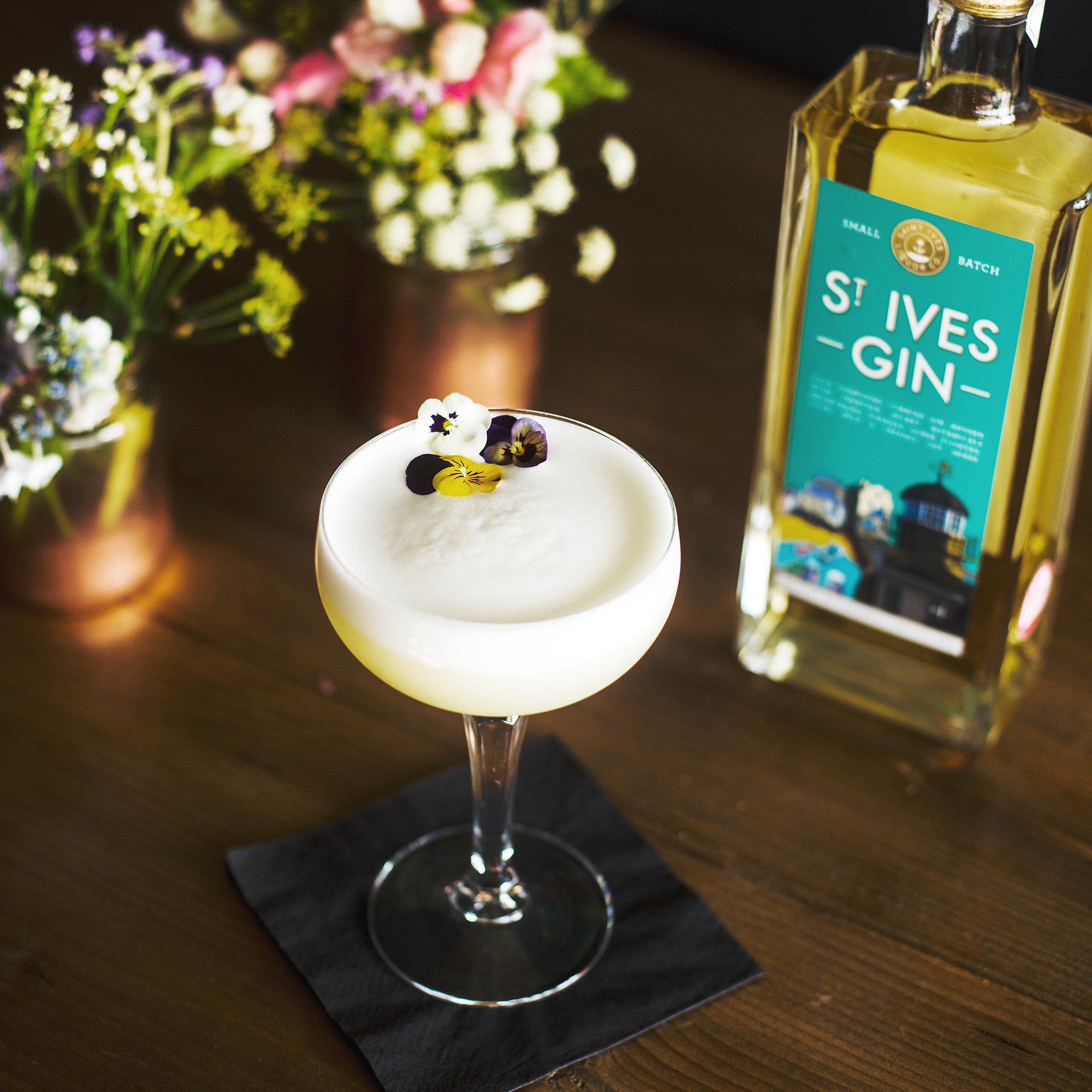 The Cornish Lady Cocktail with St Ives Gin