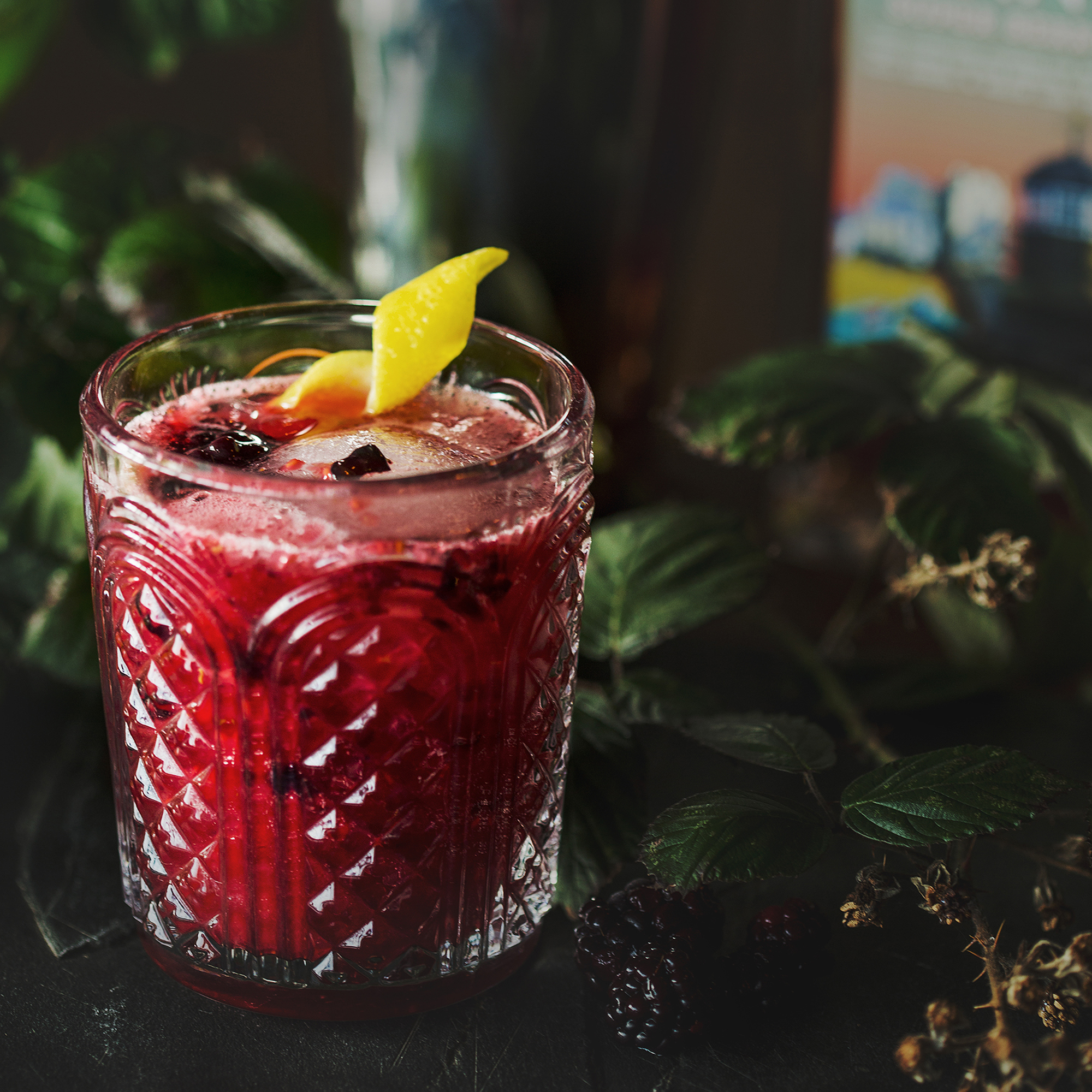 Berry Gin Smash Cocktail with St Ives Super Berry Gin