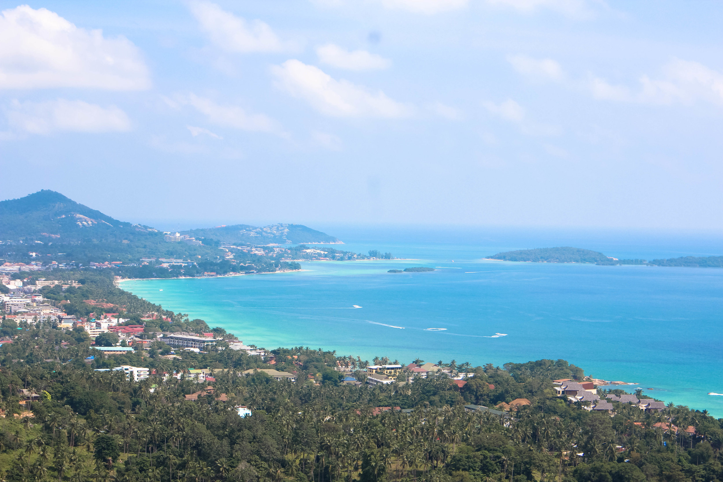 View of Chaweng from Jungle Club Koh Samui