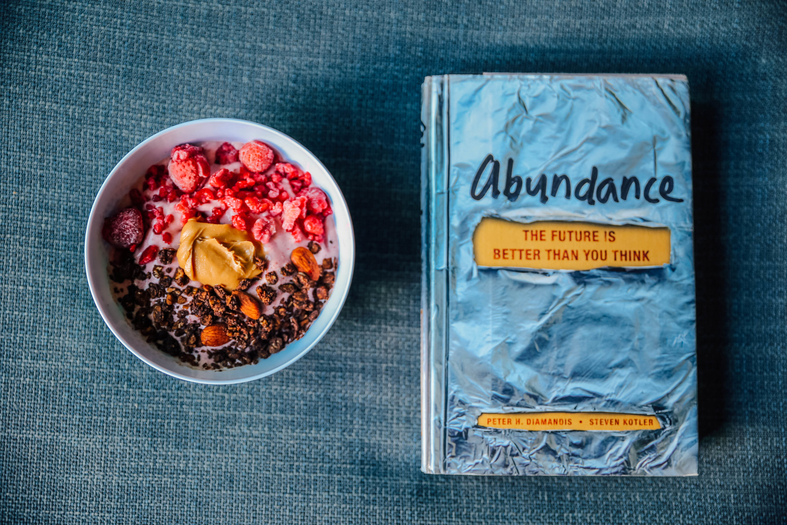 """This week's read is the book """"abundance"""". The world isn't as bad as we all think it is, and there's still hope out there. If you love positivity on a global scale, grab this read."""