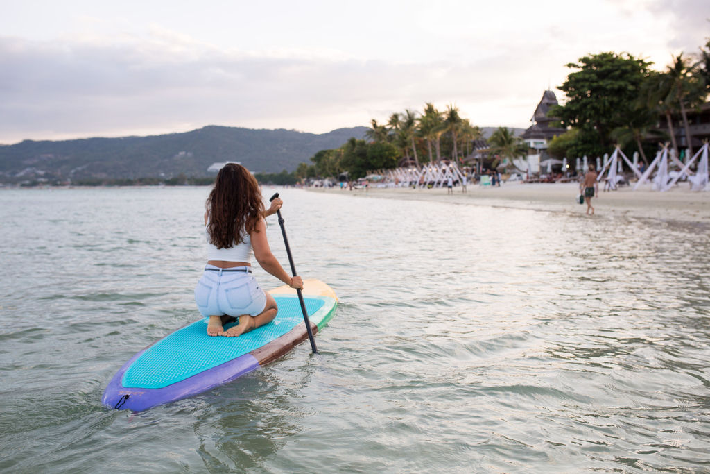 You can rent these SUP boards from Mini Bar Koh Samui, Chaweng Beach.