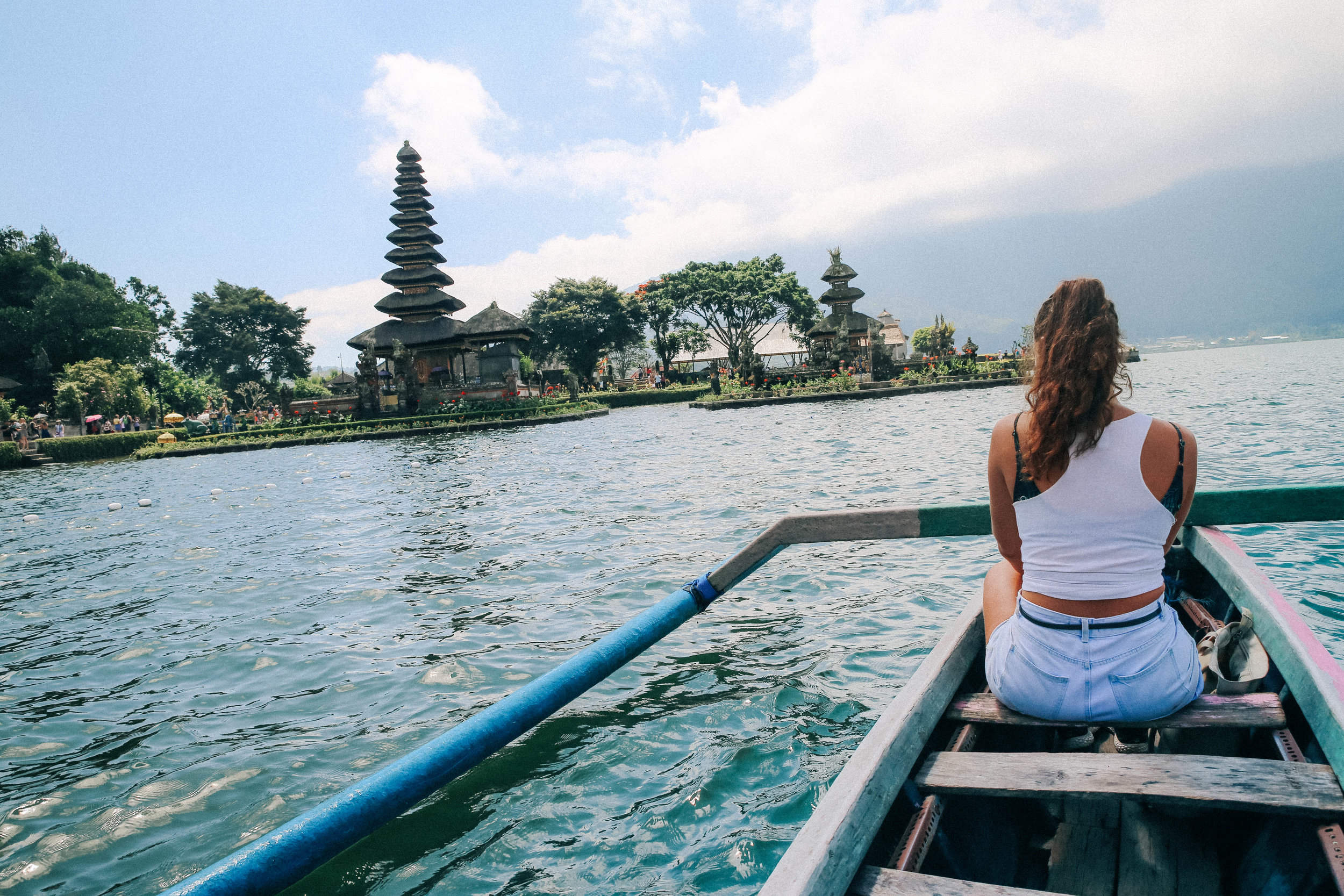 temple by the lake in bali