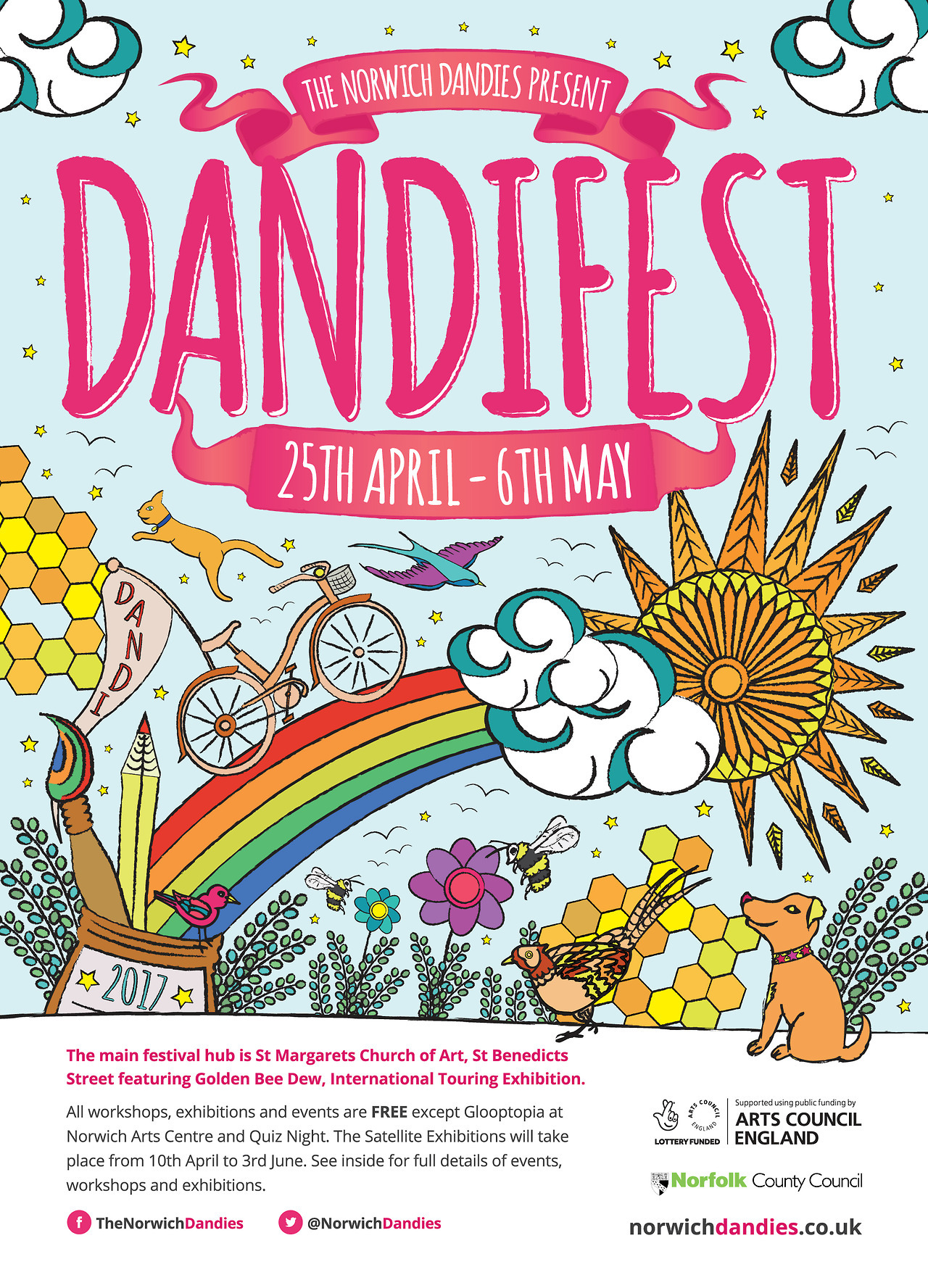 For more information about this year's Dandifest check out the full programme of exhibitions and events here: https://norwichdandies.co.uk/_assets/pdfs/dandifest-2017-programme.pdf