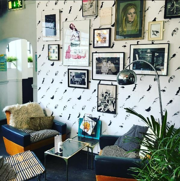 As part of our 10th anniversary celebrations, we commissioned our curator Alice Lee to produce some of her own work to have at the pub. What we've ended up with is this gorgeous hand screen-printed wallpaper on our wall of fame, exclusive to US!   For more information on Alice's work, check out her website:    www.parallelpoint.co.uk