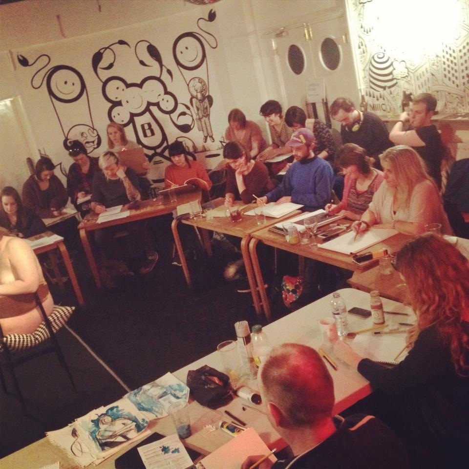 Life drawing at    Birdcage Norwich    every Tuesday. Booze and bums. What a way to spend an evening.