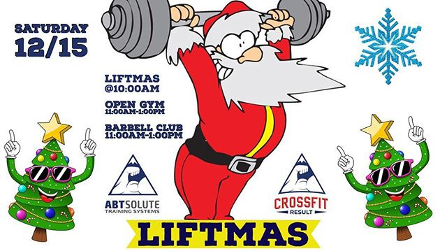 💥Attention Westchester!💥ABTsolute Training Systems and @crossfitresult are hosting LIFTMAS (a group workout) next Saturday and we want everyone to come!! 🔷 At 10:00am LIFTMAS starts, 11:00am barbell club and open gym starts. 🔷 There will also be food drinks and a membership giveaway! 🔷 ABTsolute, 5 Plain Ave New Rochelle NY 10801 914-725-5414