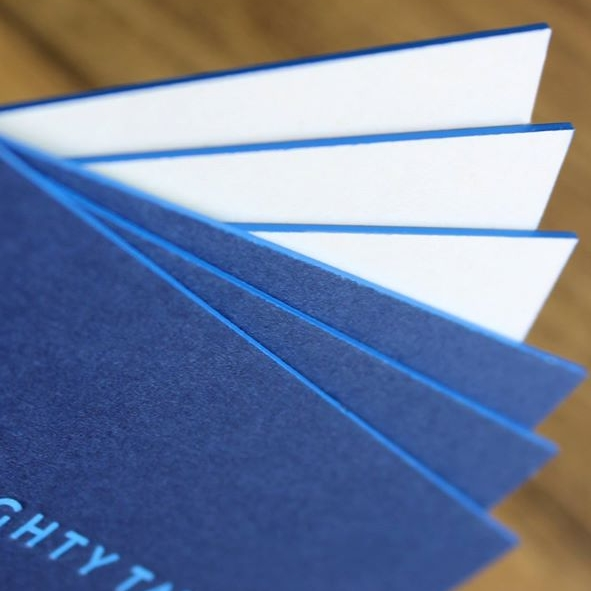 Duplex, edge coloured business cards