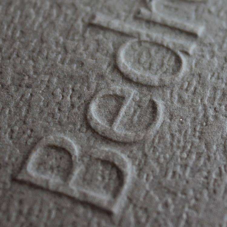Bed rock Embossed business card preview