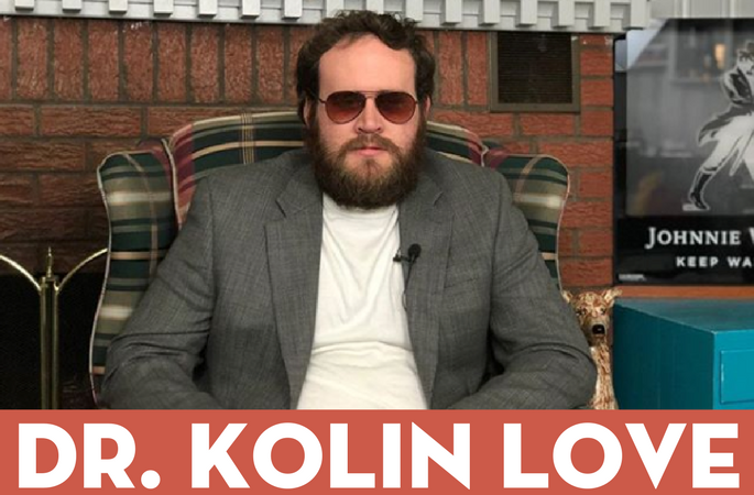 Dr. Kolin Love - Ph.D in Psychology of the Heart. Master of feelings and affection and avid dog cuddler.