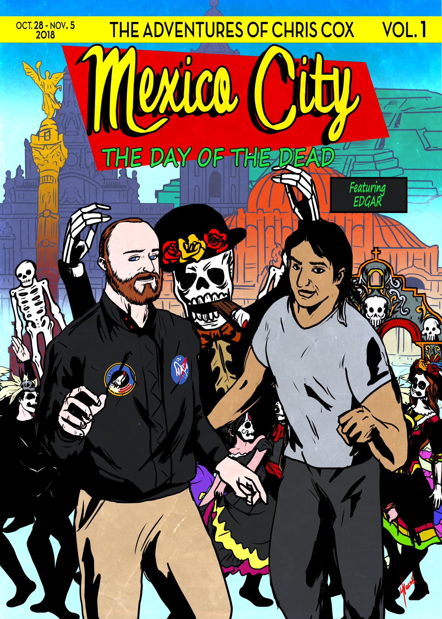 Chris Cox Mexico City Travel Poster