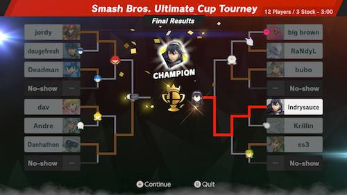 Week 2 Tournament 2 - lndrysauce winner!