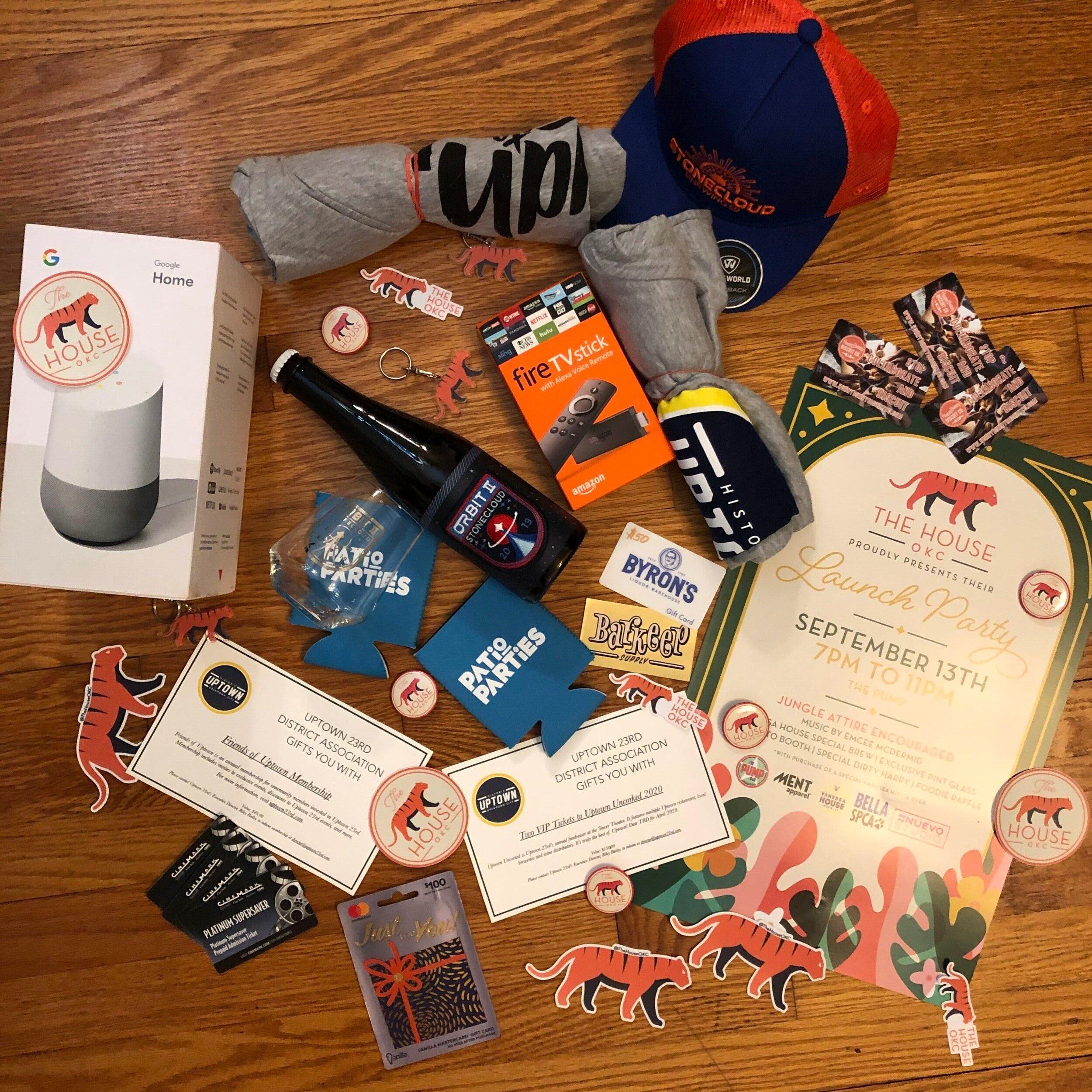 The House OKC Raffle Prizes