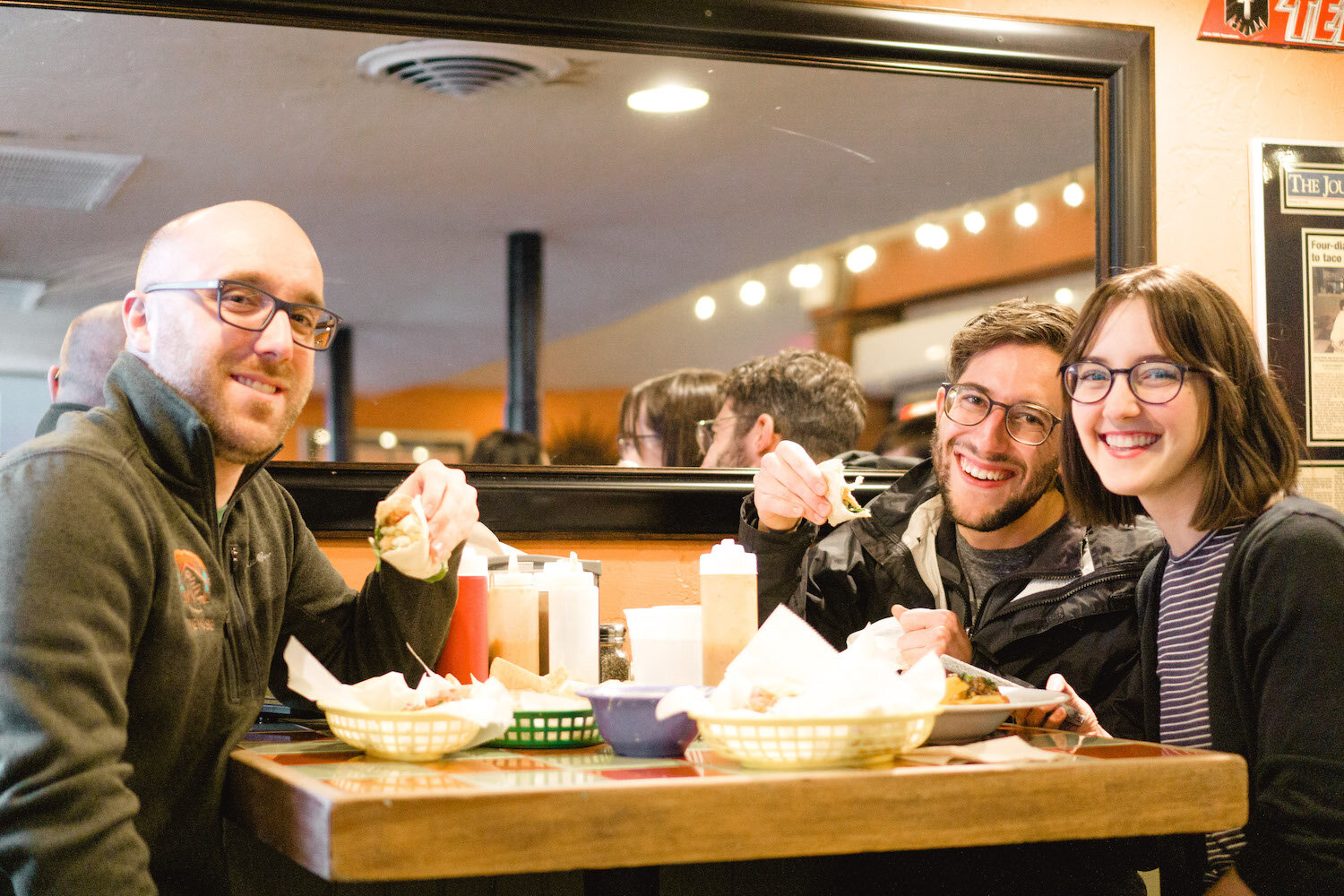 Chris Cox, Austin, and Regan Shorter at Big Truck Tacos. Have you ever seen a photo that made you want to say #squadgoals more than this one?  Photo by: Regan Shorter on behalf of The House OKC