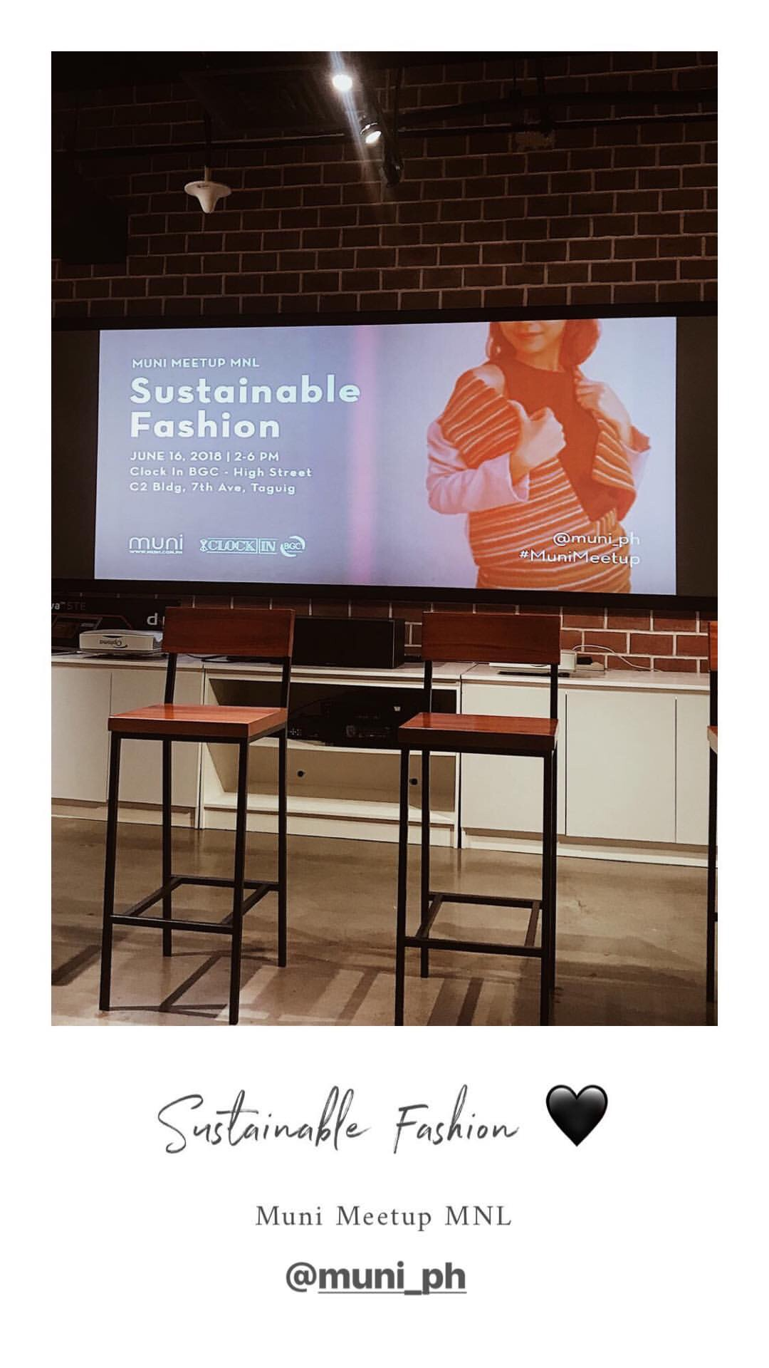 Events - Attended a talk about Sustainable Fashion with Muni Ph