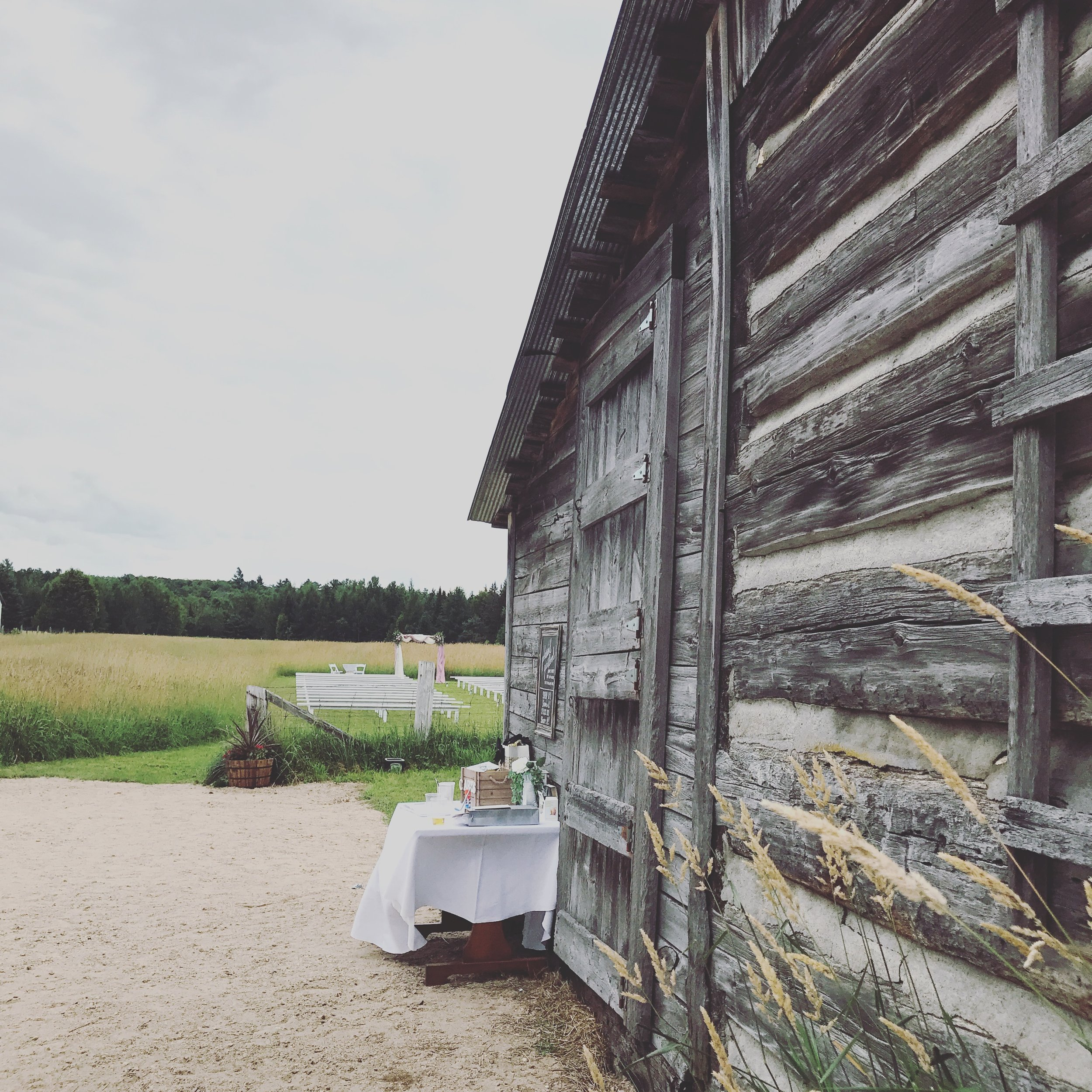 Beautiful family farm for the perfect wedding setting.