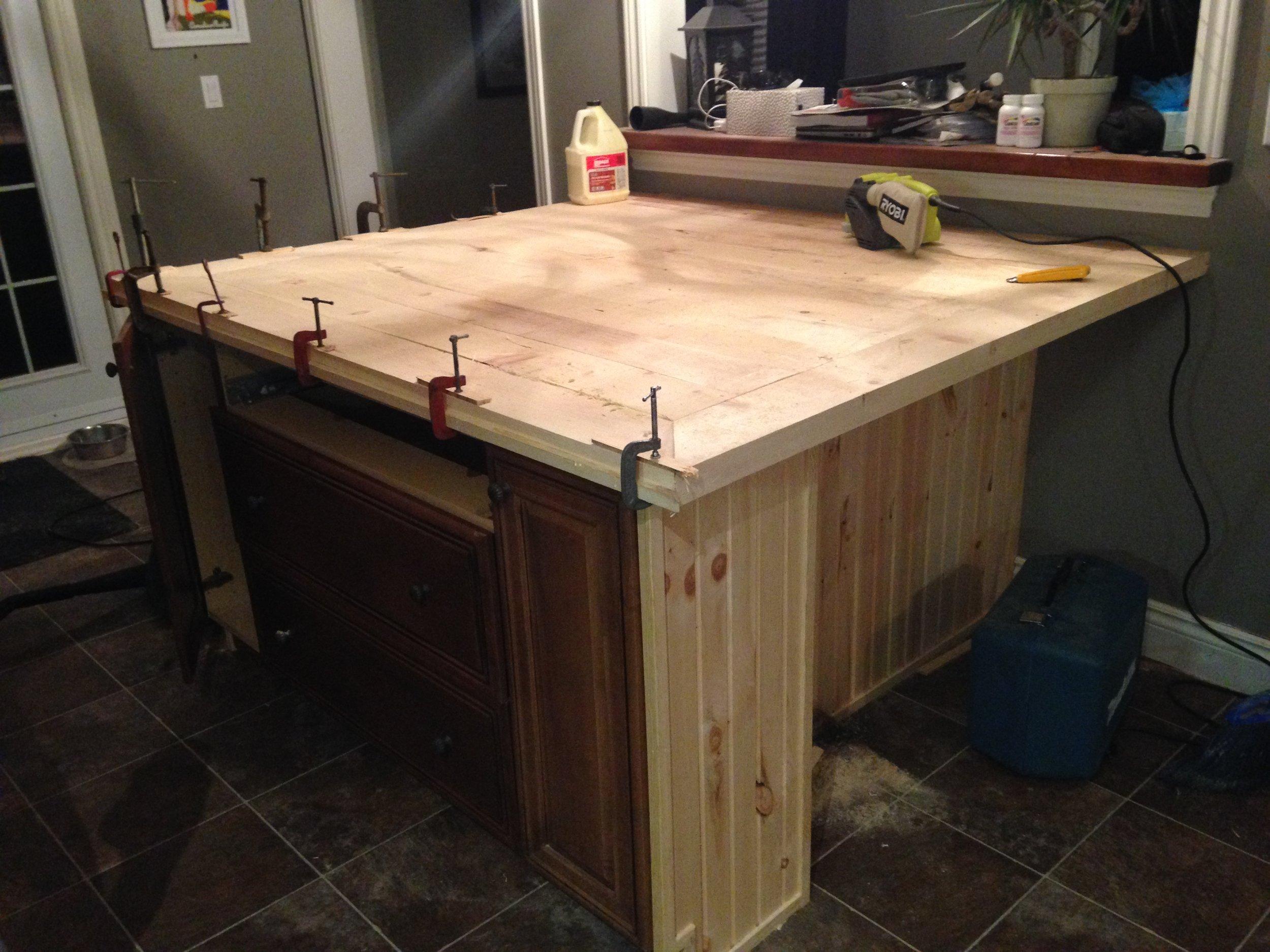 Trim and Baseboard on, Butcherblock Counter Setting