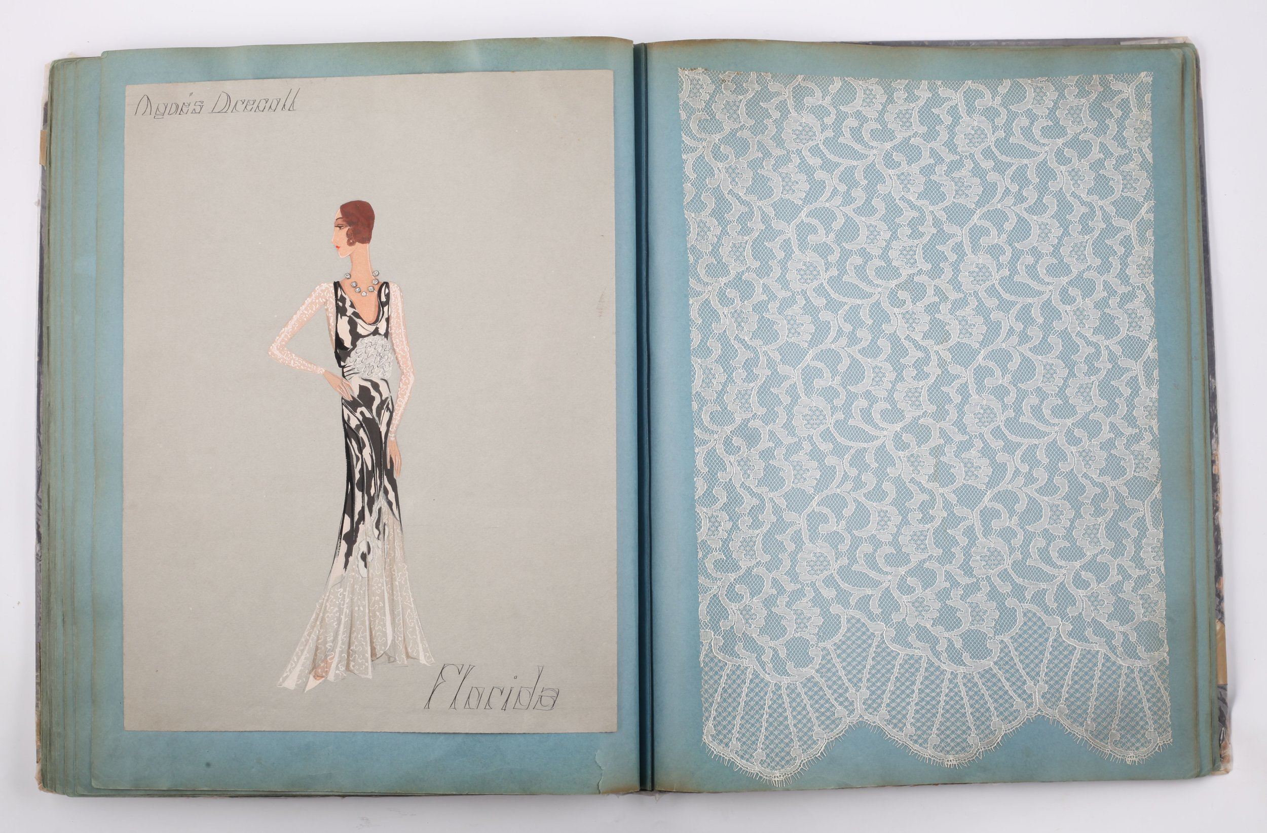 Lace Pattern Book, collection of Nottingham City Museums and Galleries. Image: Freddy Griffiths