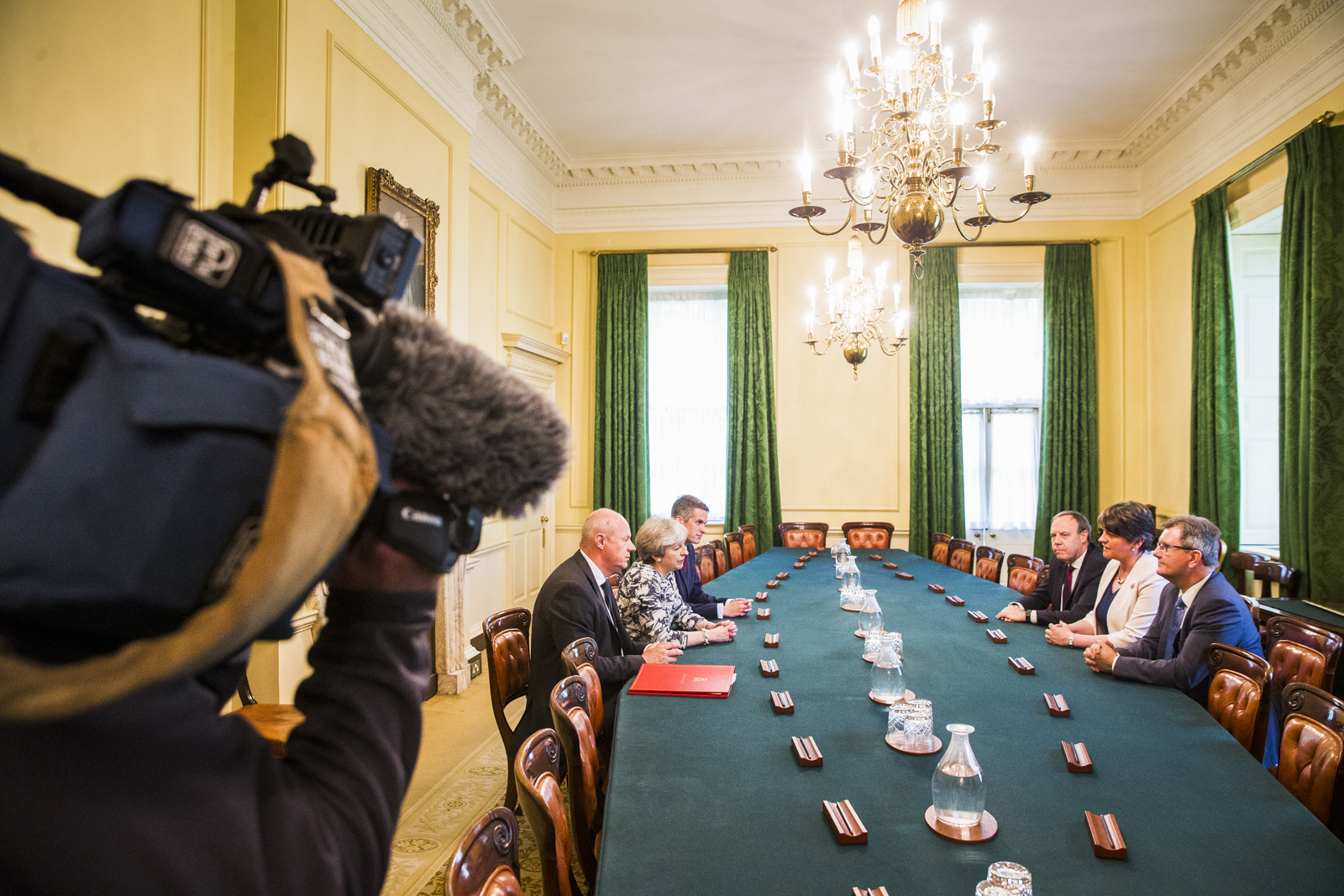 Tory government cabinet meeting with the DUP at number 10 Downing Street