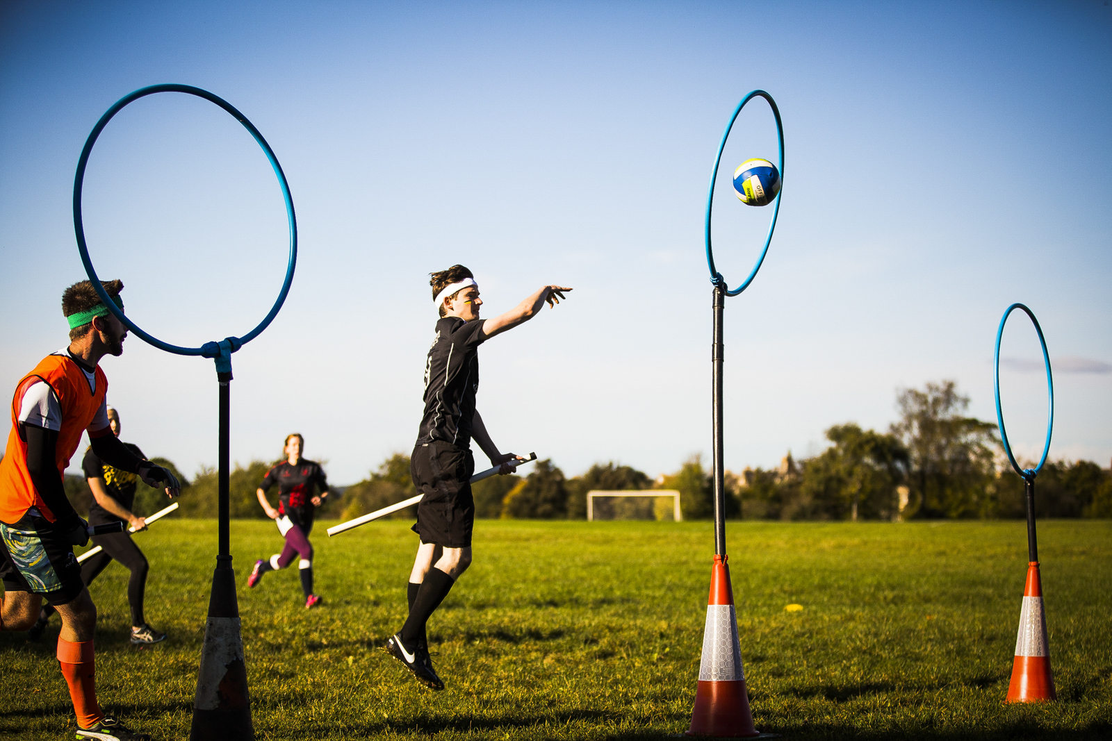The Brizzle Bees, a Bristol based Quidditch team play against the Exeter Eagles as part of the South West Quidditch League.