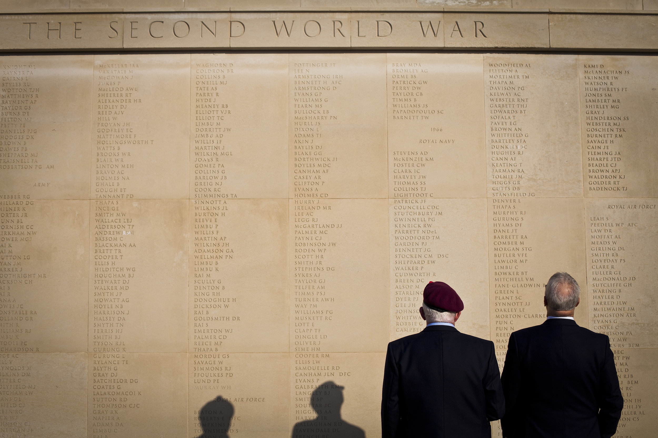People visit the Armed Forces Memorial ahead of the Remembrance Sunday Service at the National Memorial Arboretum in Alrewas, Staffordshire