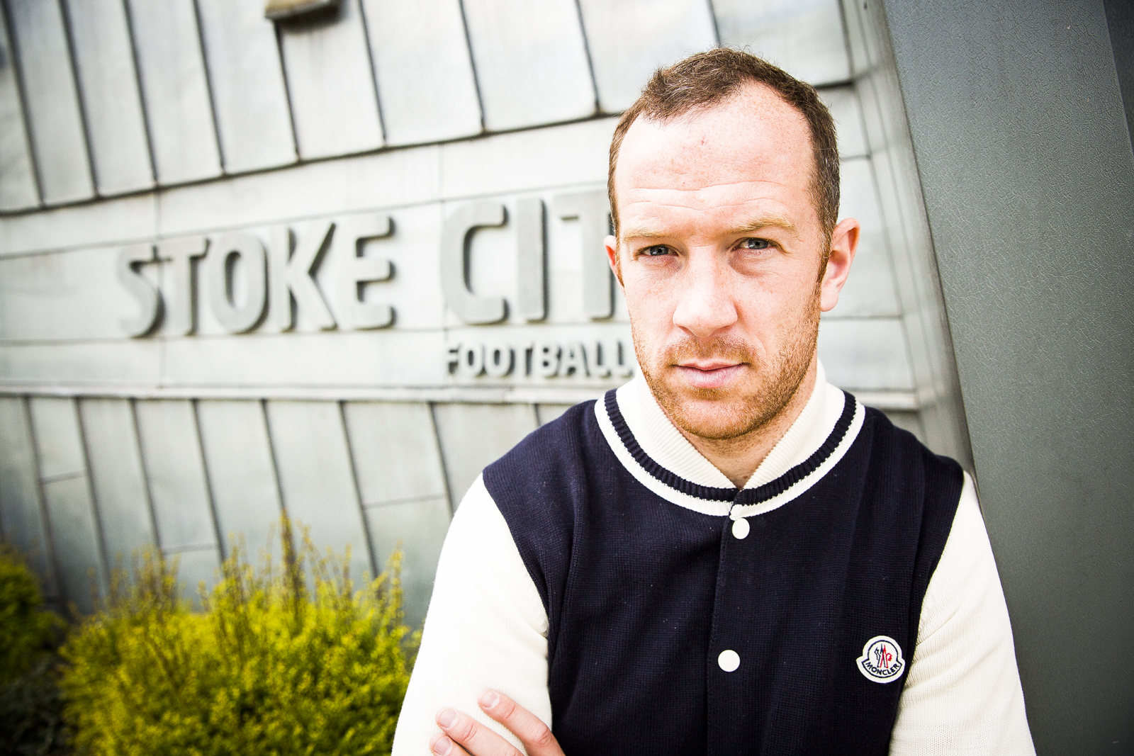Charlie Adam, footballer for Stoke City FC, at the Clayton Wood Training Ground in Stoke-on-Trent