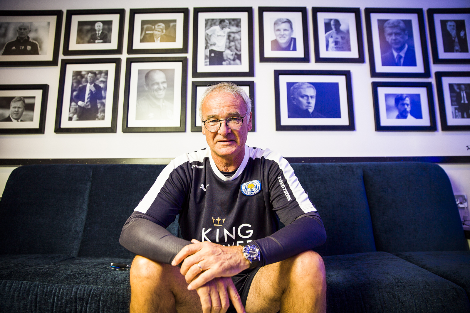 Leicester City manager Claudio Ranieri at the King Power Stadium