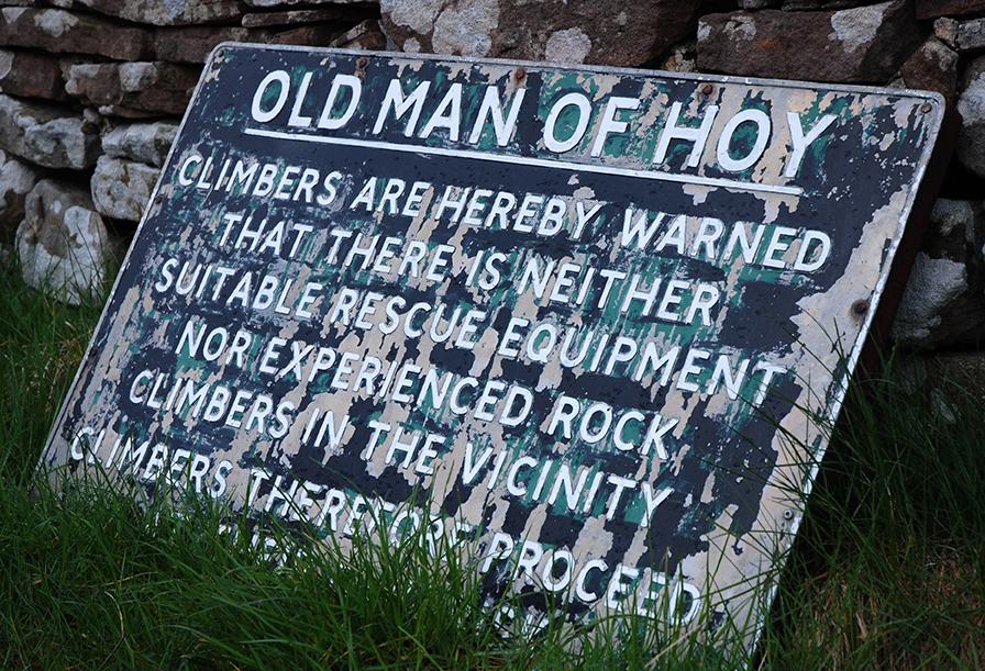 Climbers be warned ...