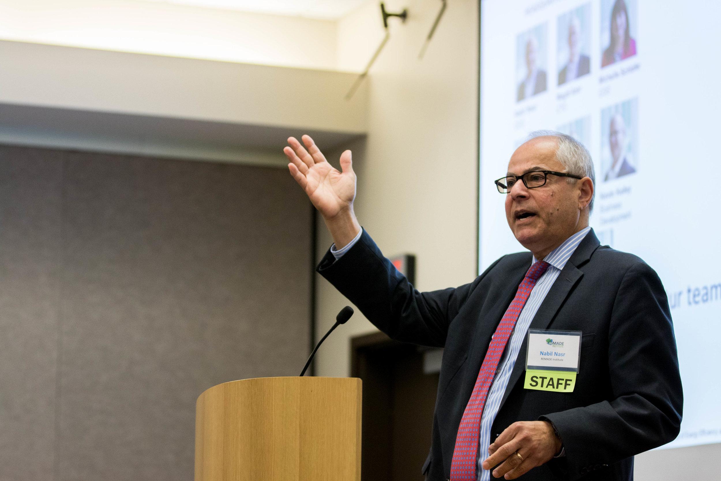 Nabil Nasr at the REMADE Member Meeting