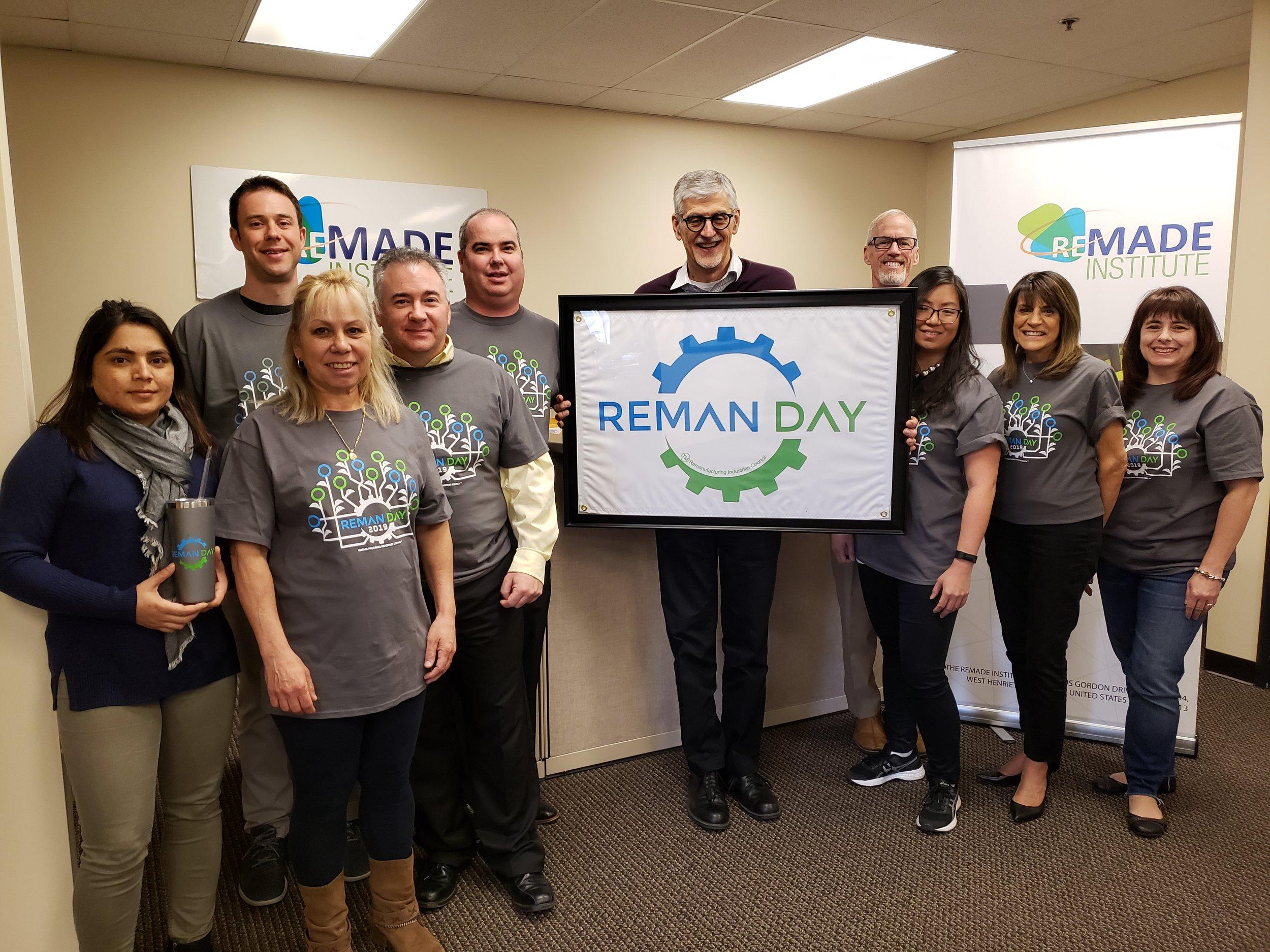 Staff participate in Reman Day 2019