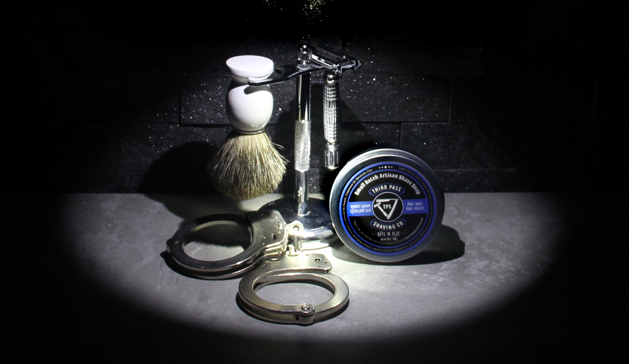 Boys in Blue Shave Soap ~ Shavings Finest!