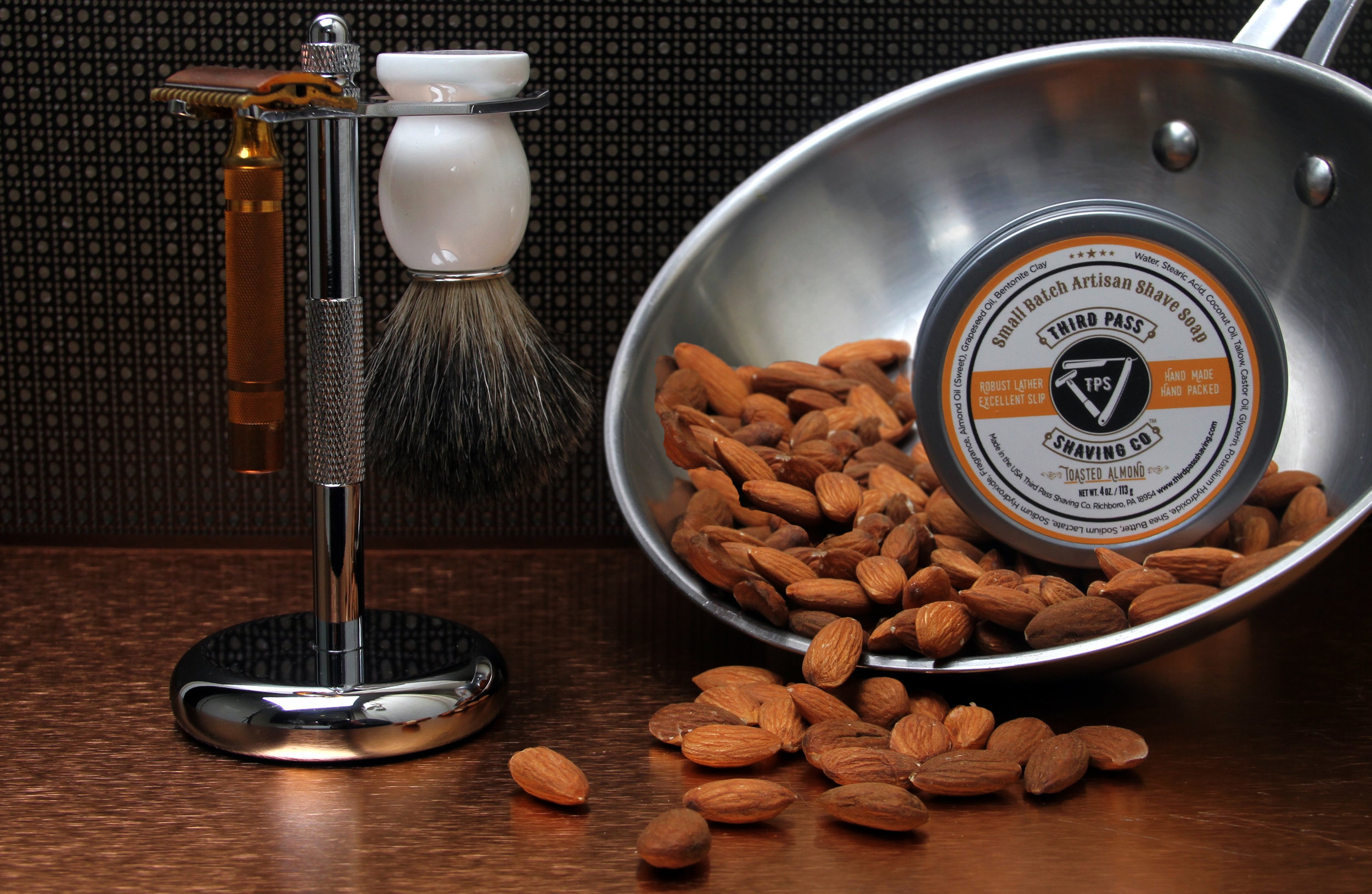 Toasted Almond Shave Soap ~ For shaving...not eating.