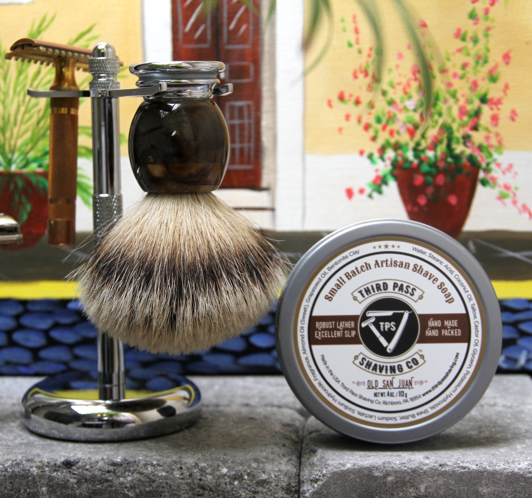 Old San Juan Shave Soap ~ Like an island getaway with every shave!