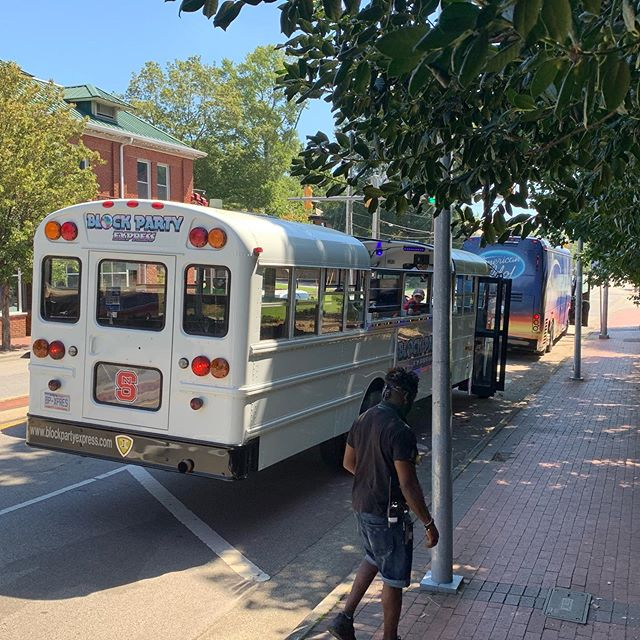 Look for The Block Party Express on ABC's @americanidol this fall! We were honored to be invited to join their shoot on the @idollivetour today at @ncstate. Live auditions all week at Duke Energy Center for the Performing Arts!