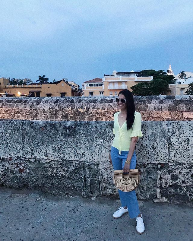 ⠀⠀⠀ somewhere in cartagena 💘 ⠀⠀⠀⠀ ⠀ wearing @andrewstevensny x