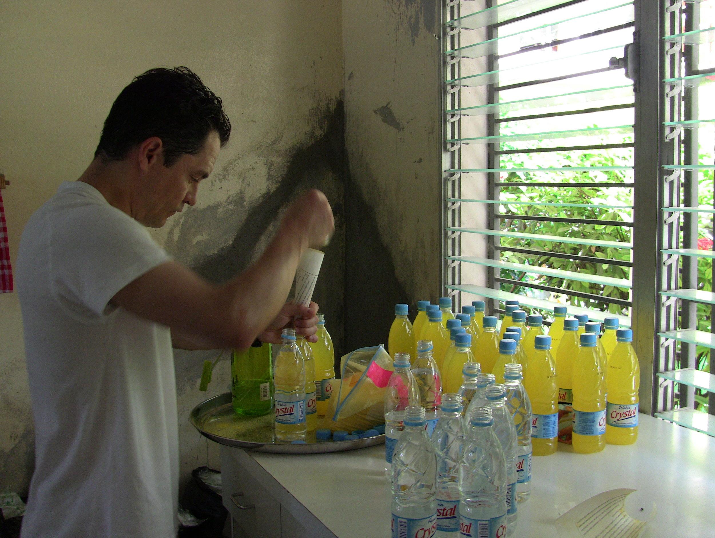 Mixing Drip Drop Haiti 2010.jpg
