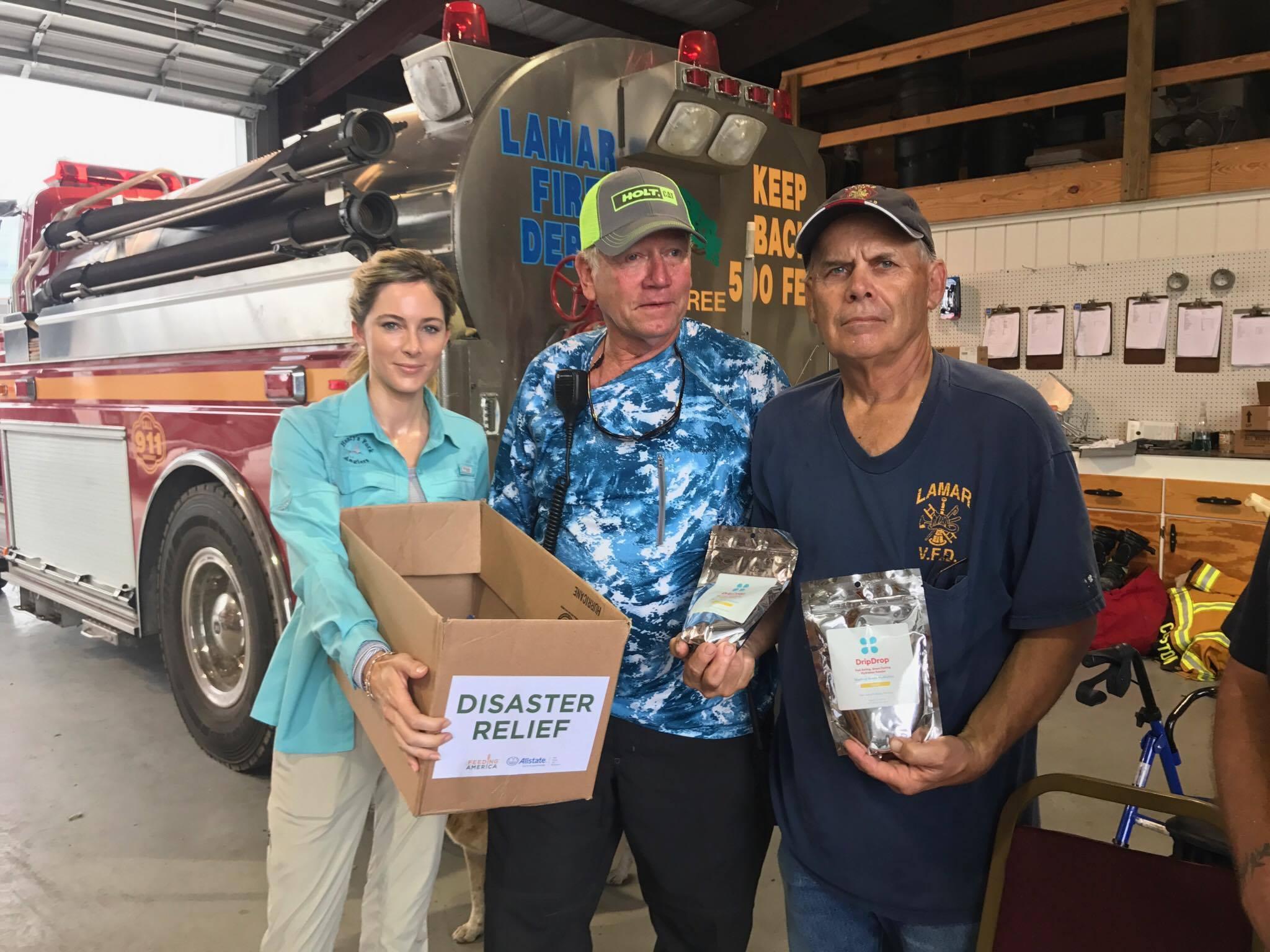 Michelle Wilson meeting Lamar Volunteer Fire Department Fire Truck.jpg
