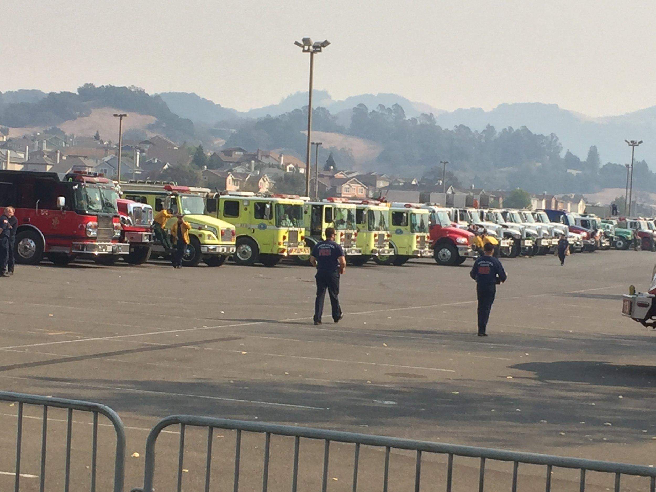 Santa Monica Fairgrounds Response Center Northbay fires 4.jpg