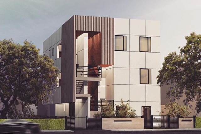 Another 5 unit apartment building has entered our world. #developmentcreativity #mobbil #design