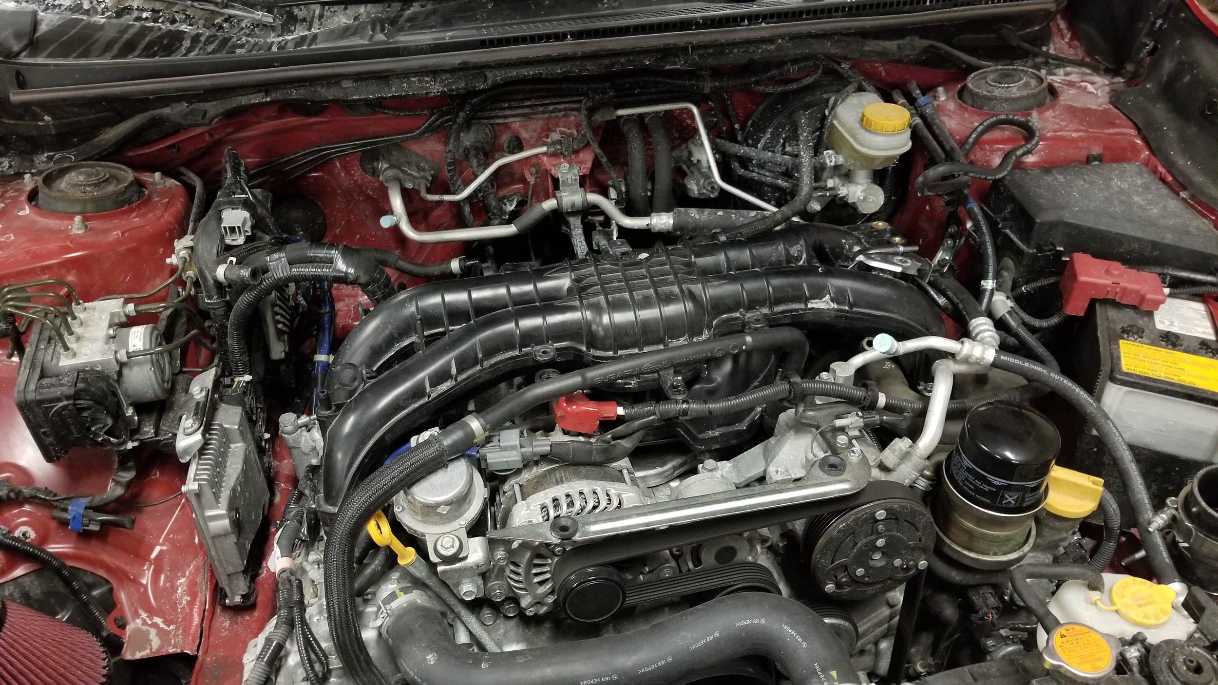 BRZ Manifold Install — iBuildRacecars com