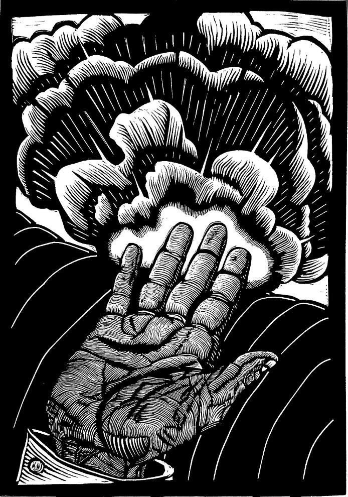 Cassandra Complex , linocut, 2014