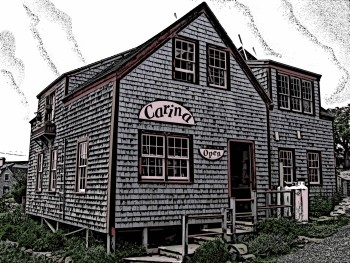 Carina House , woodcut
