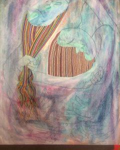 Maia Snow,  Aiahha , 2017, oil on canvas, 37″x31″