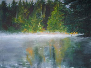 Campbell,  Maine Morning Mist , 2011, acrylic on canvas