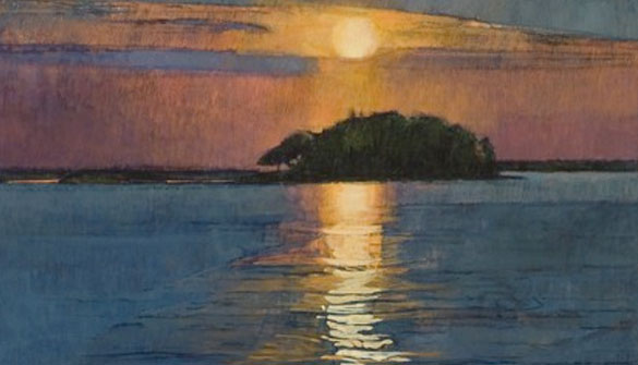 "Sarah Knock, ""Sunrise - July,"" (1989 Resident)"