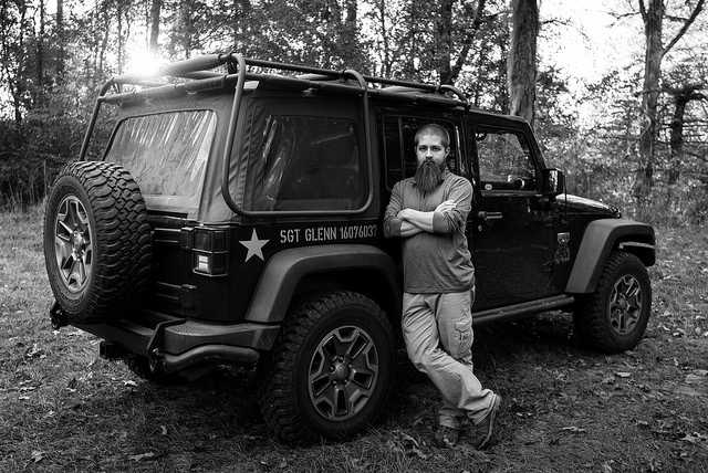 Giving your jeep a name is a jeep thing. In honor my grandfather, I gave my Call of Duty/Modern Warfare 3 jeep the name Sgt. Glenn.