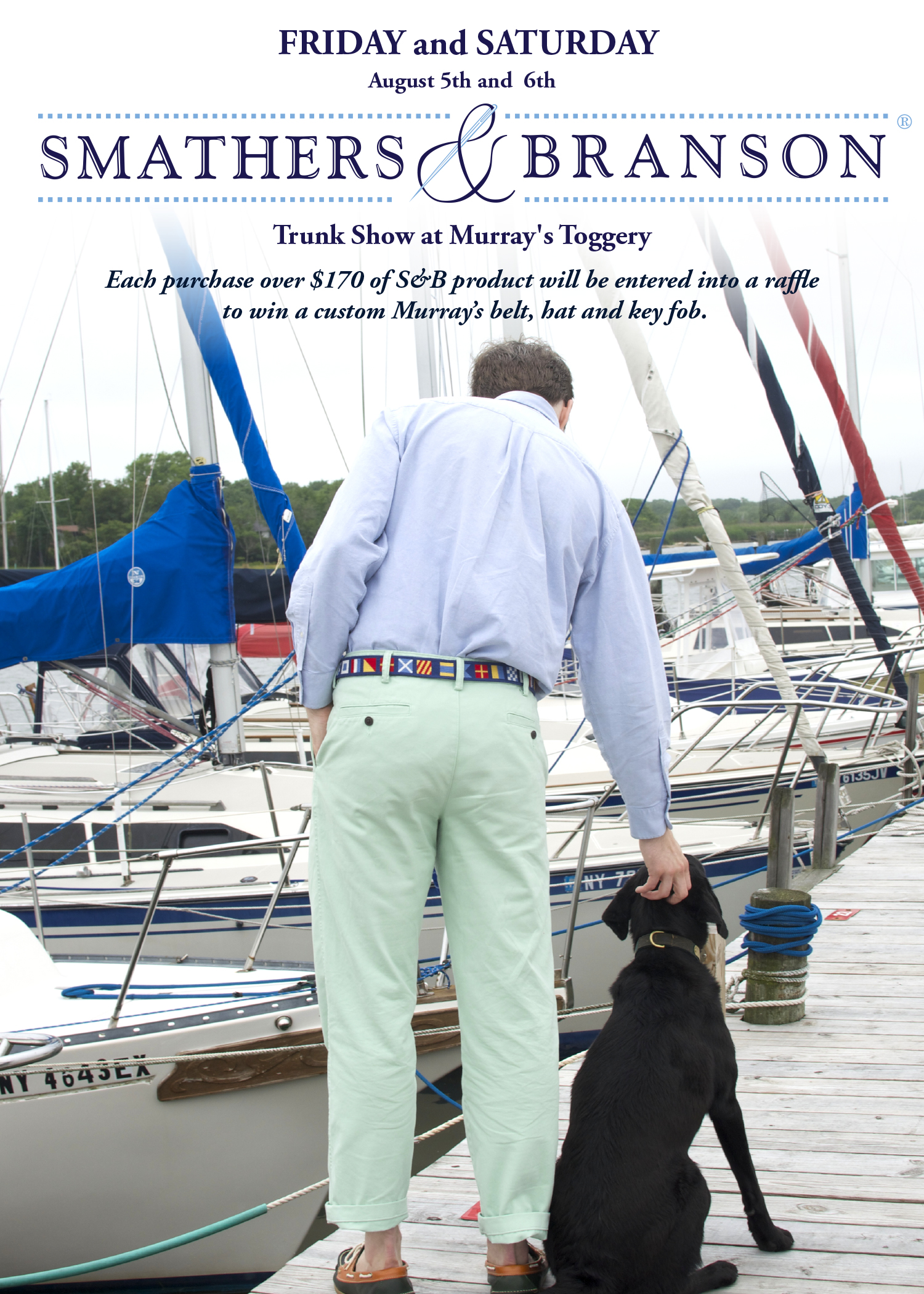Smathers & Branson Email Promotional Poster for Murray's Toggery in Nantucket