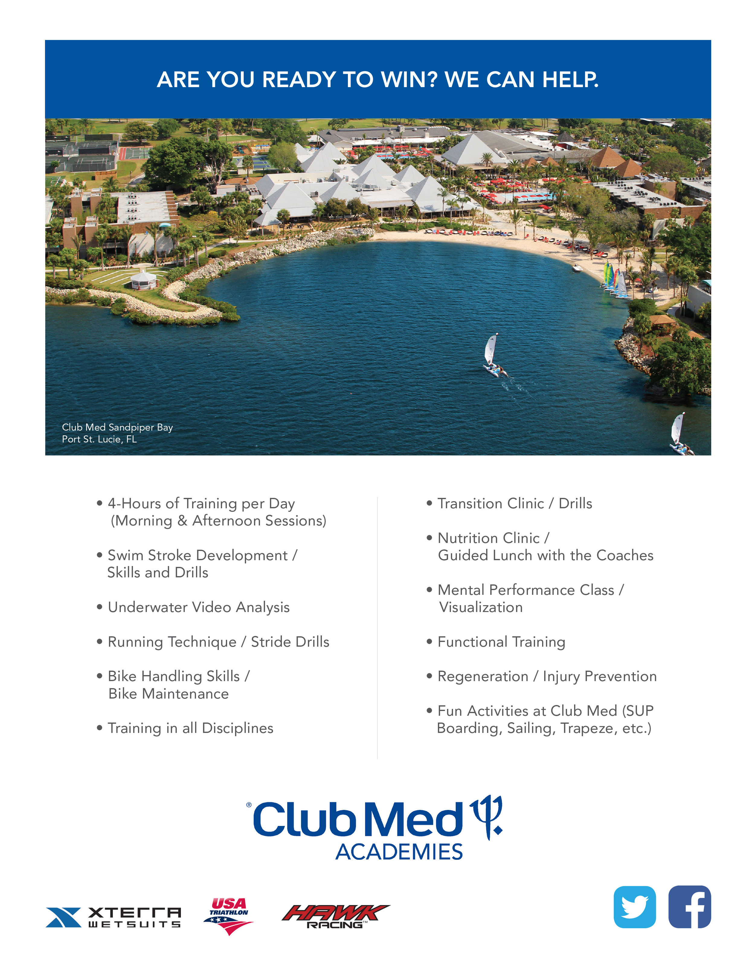 /BRIGHT RED Flyer for Club Med (Back)