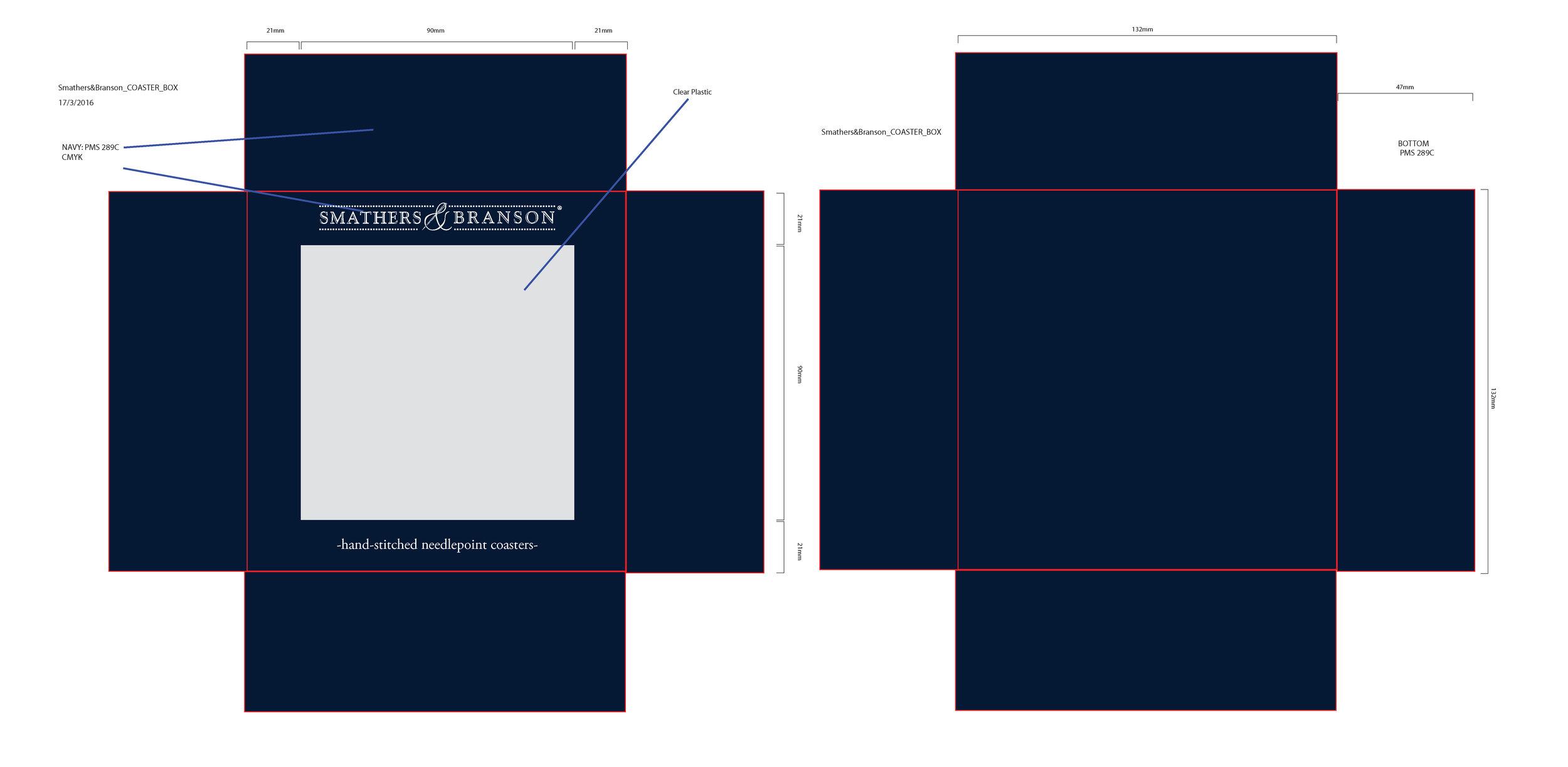 S&B Coaster Box Package Design