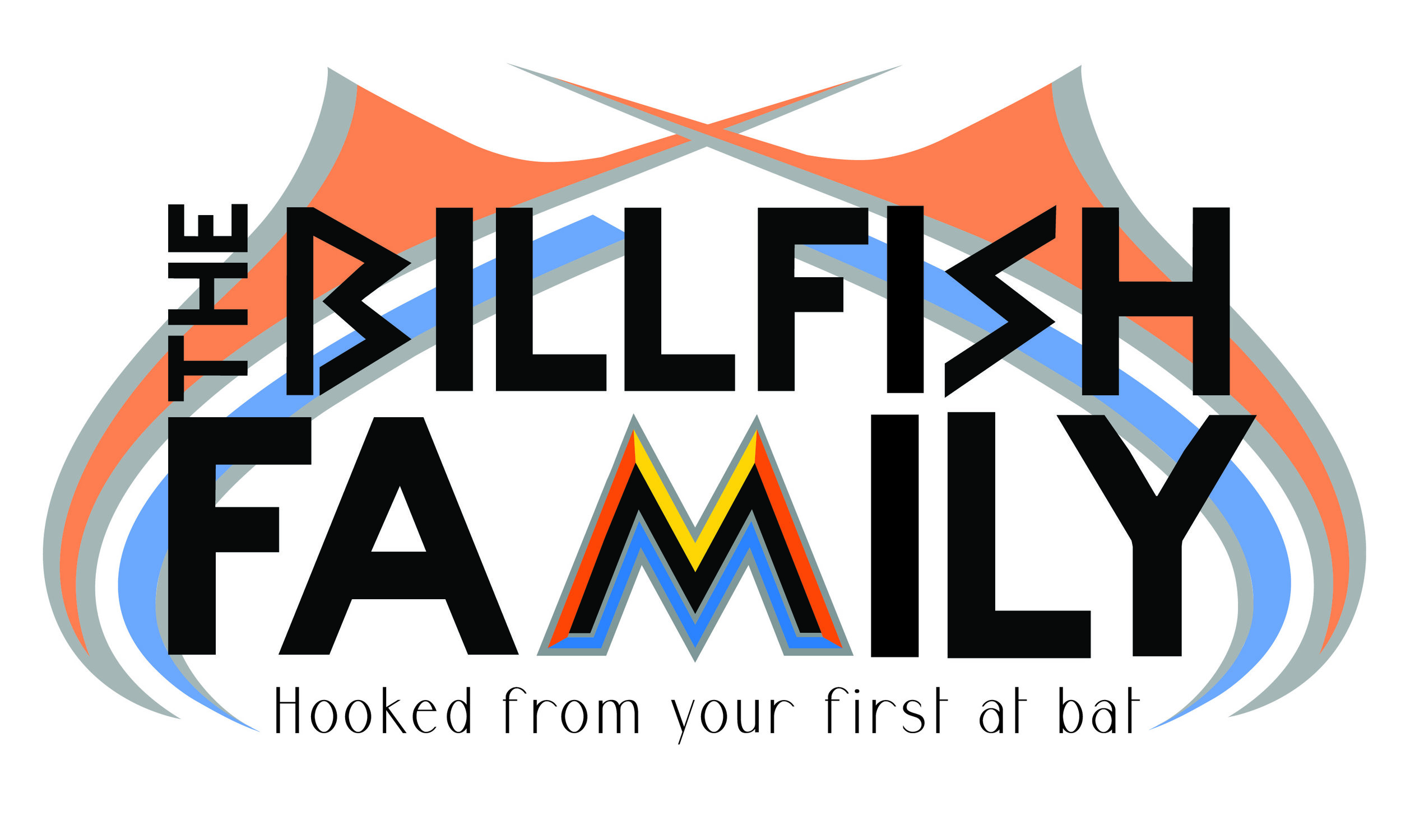 Billfish Family Logo Design for a UNC Project for the Miami Marlins