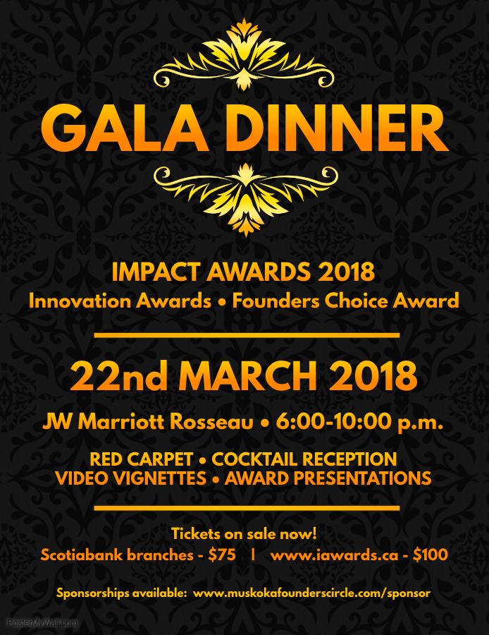 2018 Awards Night Gala Poster